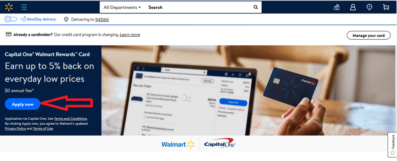 How to Apply for Capital One Walmart Credit Card Online 1