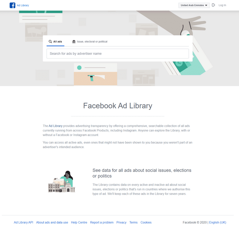 Facebook ad library image