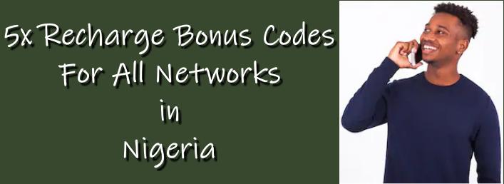 5x Recharge Bonus Codes image