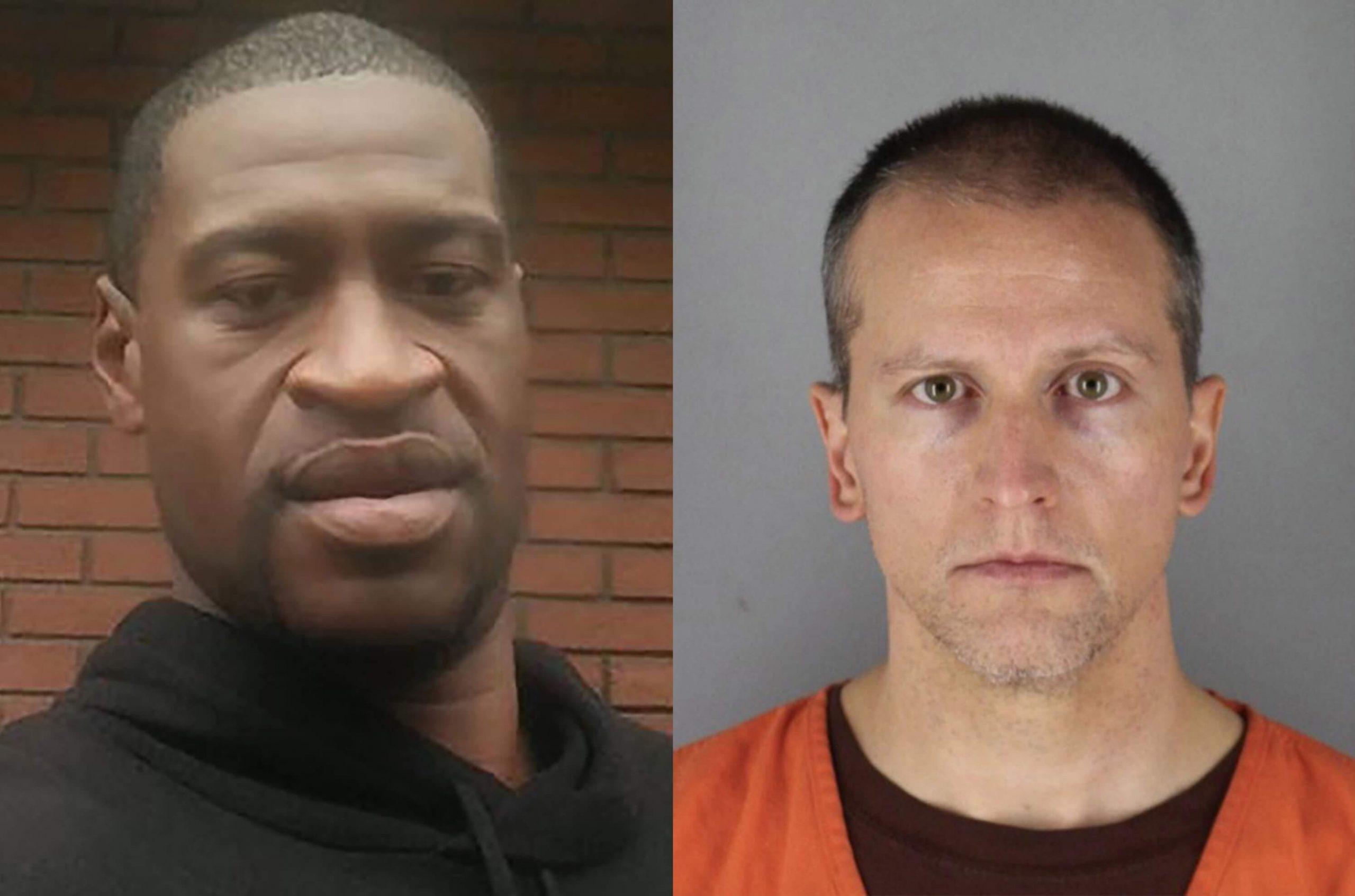 George Floyd and Derek Chauvin is the ex-cop image