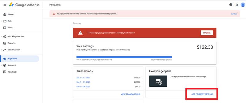 google adsense add payment image 1